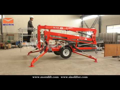 How To Operate The Towable Cherry Picker/articulated Boom Lift From MORN LIFT? Mp3