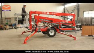 How to operate the towable cherry picker/articulated boom lift from MORN LIFT?