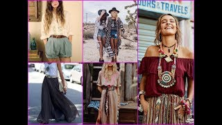 Best Summer Boho Outfits Ideas 2018 / Fashion Bohemian Style Inspiration