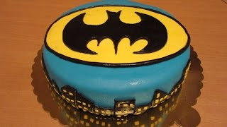 Fondant Cake Decorating For Beginners - BATMAN FONDANT CAKE!