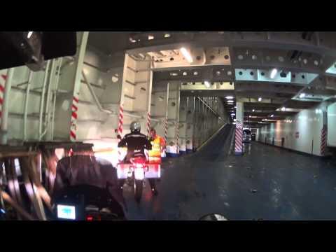Genua Hafen und Abfahrt