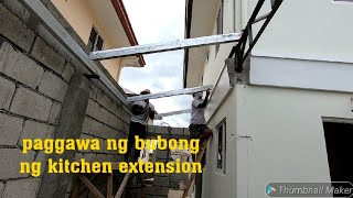 Paggawa Ng Bubong Ng Kitchen Extension/at Presyo Ng Spandrel Sa Tinsmith Shop
