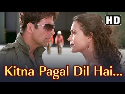 Kitna Pagal Dil Hai | Andaaz Songs | Akshay Kumar | Lara Dutta | Kumar Sanu | Love Romantic Song