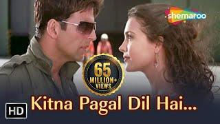 Kitna Pagal Dil Hai | Andaaz Songs | Akshay Kumar | Lara