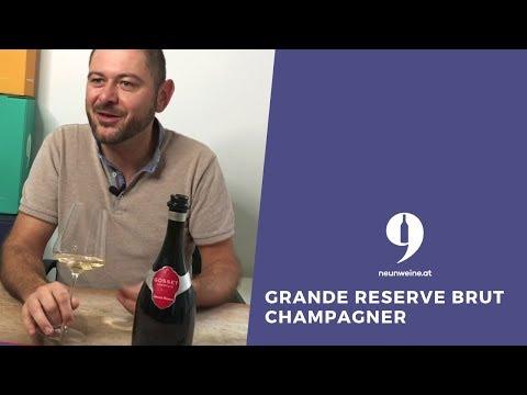 """9Weine Gründer Michael präsentiert den """"Grande Reserve Brut"""" Champagner"""