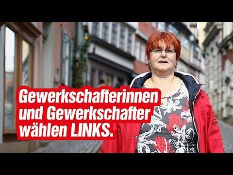 Gewerkschafterinnen und Gewerkschafter wählen links