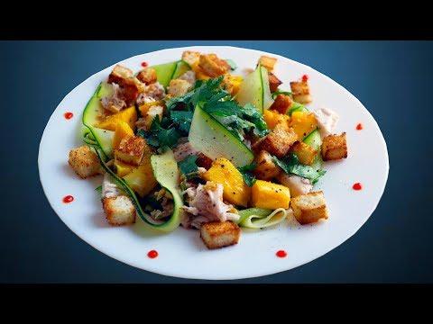 Яркий салат с манго и курицей | Азиатская вкуснятина