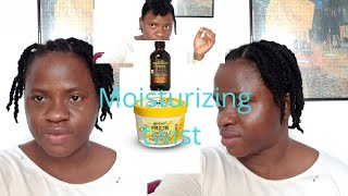 PRODUCT REVIEW N DEMO /GARNIER FRUCTIS HAIR FOOD/ MANGO AND LIME JAMAICAN  BLACK CASTOR  OIL