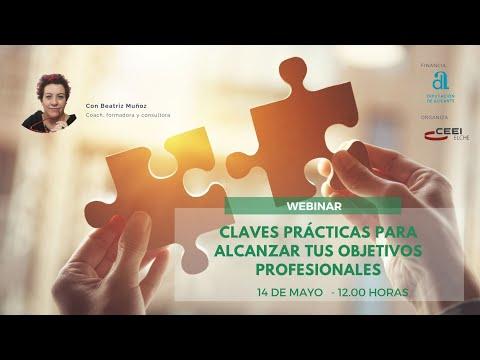 Webinar Claves prácticas para alcanzar tus objetivos profesionales[;;;][;;;]