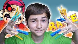 КОФЕ С ПРИЩЕПКАМИ!   Unfair Mario + Clothespin CHALLENGE!