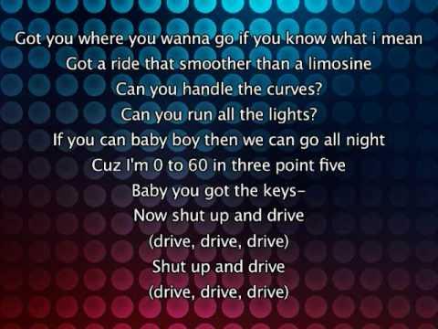 Rihanna - Shut Up And Drive, Lyrics In Video