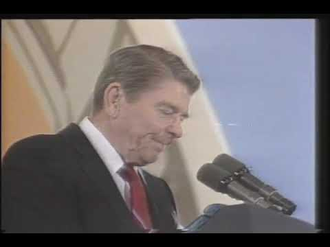 Reagan reacting to a balloon popping 2 months after he was shot.