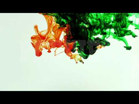 Abstract Colorful Ink Paint Drops Splash in Underwater 4K 50