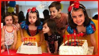 Pamuk Prenses Rüya 5 Yaşında, Rüya'nın Doğum Günü Kutladık, Pasta Üfledik, Hediyeleri Açtık