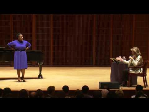 Shepherd School of Music Master Class with Renee Fleming - Chabrelle Williams, soprano
