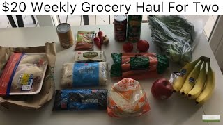 $20 Weekly Food Budget for 2 People- THE GROCERY HAUL