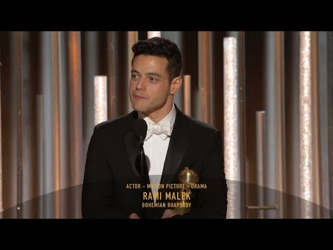 Rami Malek wins Golden Globe for Bohemian Rhapsody