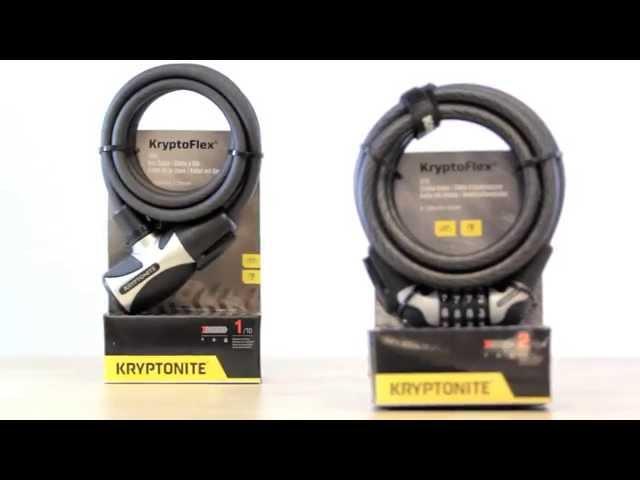Видео Замок на ключ Kryptonite KryptoFlex 1265 Key Cable желтый