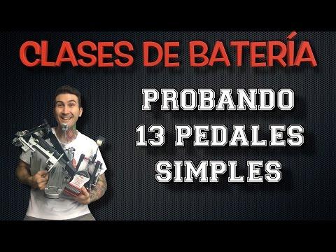 Clases de batería - Probando 13 pedales simples