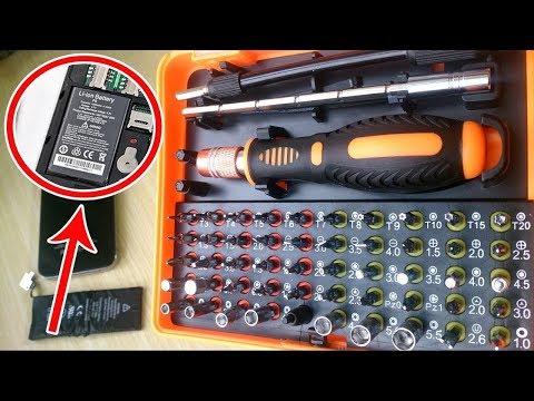 Screwdriver JAKEMY 53 in 1 Multi-Bit Precision Torx Screwdriver Tweezer Phone Repair Tool