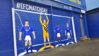 Everton EFC Subbuteo Mural at Goodison Park, Liverpool