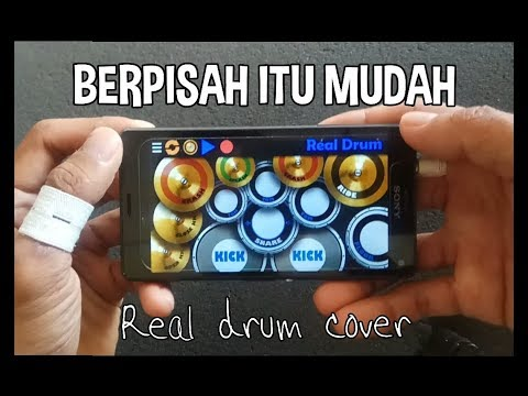 BERPISAH ITU MUDAH - RIZKY FEBIAN ft. MIKHA TAMBAYONG ( REAL DRUM COVER )