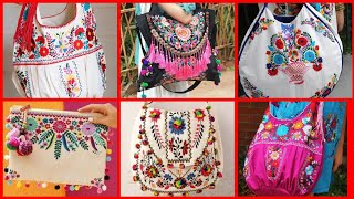 Beautiful Handmade Embroidered Fabric Bag Designs