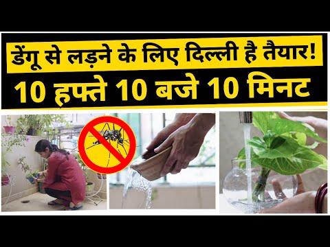 डेंगू से लड़ने के लिए दिल्ली है तैयार! 10 हफ्ते 10 बजे 10 मिनट | Kejriwal Model of Governance