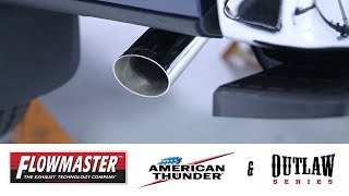 In the Garage™ with Parts Pro™: Flowmaster American Thunder® & Outlaw® Cat-Back Exhaust Systems