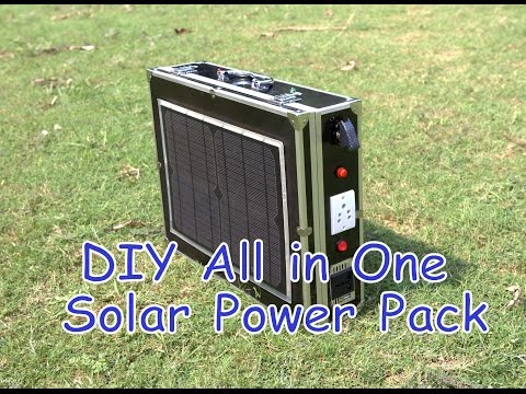 DIY All in One Portable Solar Power Pack || Low Cost Solar Generator