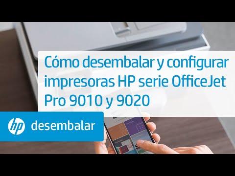 Cómo desembalar y configurar impresoras HP serie OfficeJet Pro 9010 y 9020