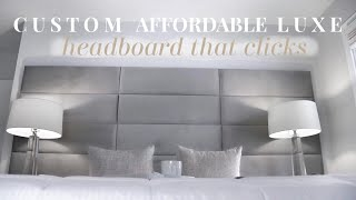 LUXE FOR LESS |  CUSTOM AFFORDABLE HEADBOARD PANELS