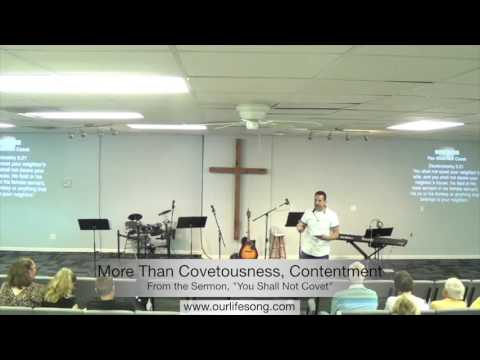 More Than Covetousness, Contentment