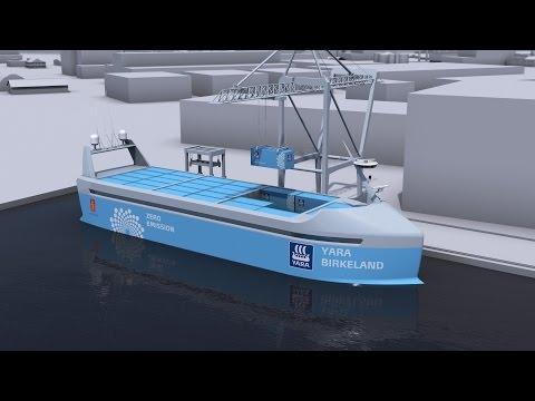 Noruega desenvolve navio autônomo