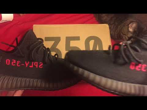 2454863bc7a21 Scary close yeezy 350 v2 bred ua jeff yeezy amazing replica on foot