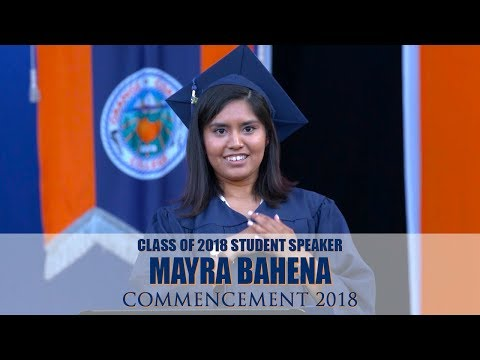 Commencement 2018⎪Student Speaker Mayra Bahena