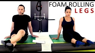 45mins LEGS FOAM ROLLING SESSION: Train Along, Detox, Myofascial Release by Coach Ali