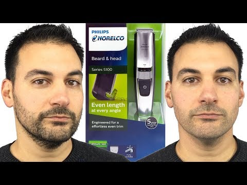 Beard Trimming – Philips Norelco Series 5100 Beard and Head Trimmer – Model BT5210
