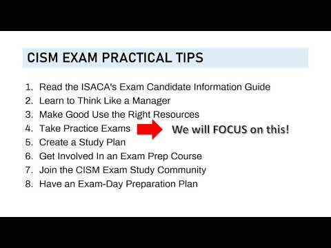 Tips & Tricks: CISM Exam Cheat Sheet - Pass It on the First Attempt ...