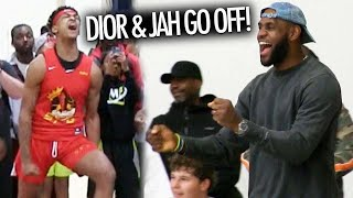 LeBron James GOES CRAZY Watching Dior Johnson And Jahzare Jackson DESTROY OPPONENTS!