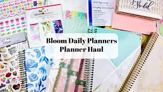 Planner Haul \ Bloom Daily Planners