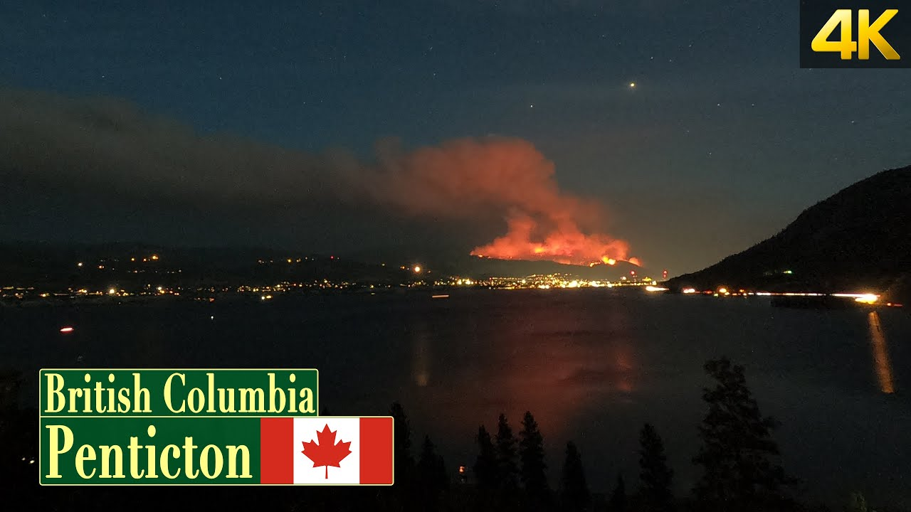 Christie Mountain wildfire in Penticton BC Canada | TimeLapse