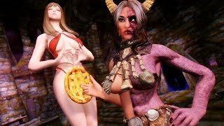 Hel Rising the Fully Voiced Follower and Poser Hotkeys Plus - Skyrim Mod Review Episode 9