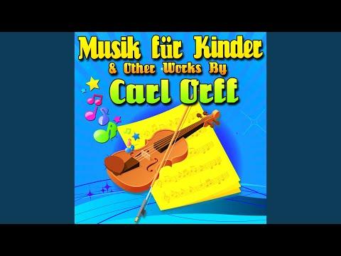 """Musik für Kinder III, No. 15 """"Four Pieces for Xylophone"""": Gassenhauer Nach Hans Neusiedler"""