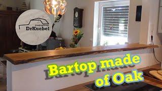 Live Edge Oak Bartop