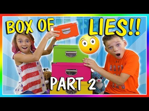 BOX OF LIES! HA! | CHALLENGE PART 2 | We Are The Davises