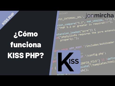 ¿Cómo funciona KISS PHP?