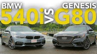 2017 BMW 540i vs Genesis G80 Sport Luxury Sedan Comparison