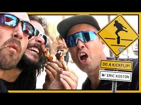 DO A KICKFLIP! With Eric Koston & Crew In Downtown Los Angeles
