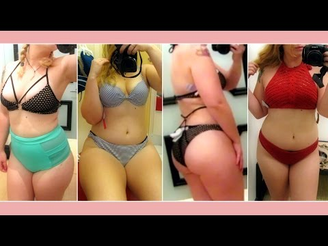 SWIMWEAR INSIDE THE DRESSING ROOM| trying on swimsuits
